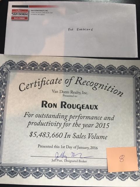 Van Dorm Realty Award